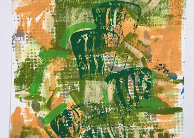 Textures Orange and Green